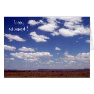 céu reservado cartão comemorativo