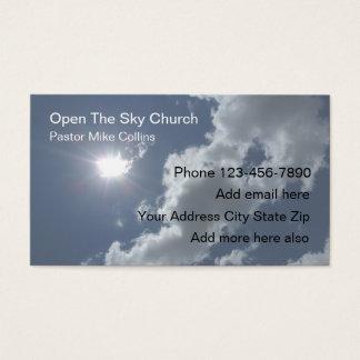 Céu Sun do pastor da igreja cristã Cartão De Visitas
