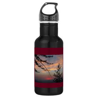 Céus do por do sol garrafa de água de 18 onças