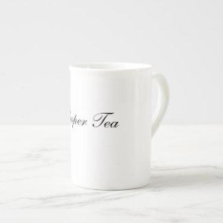 Chá apropriado - caneca de China de osso
