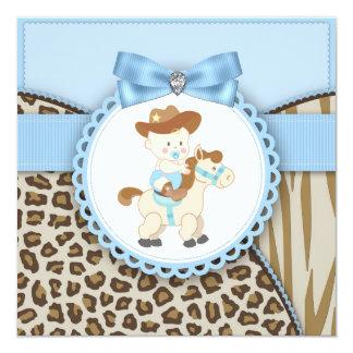 Chá azul do bebé do vaqueiro de Brown