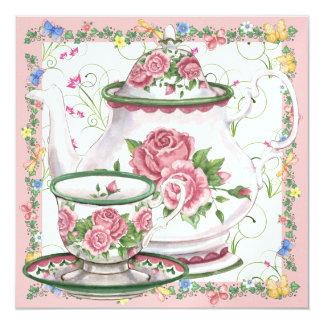 Chá/café elegantes - SRF Convite Quadrado 13.35 X 13.35cm