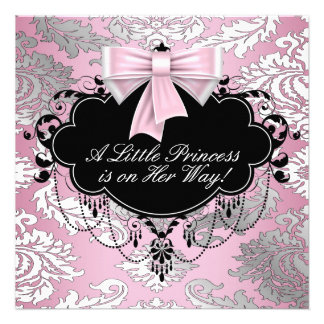 Chá cor-de-rosa e preto de prata da princesa bebé