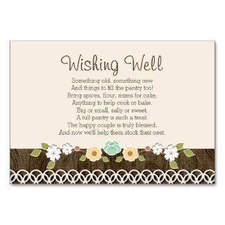 Chá de casamento rústico de Boho da hortelã que Cartão