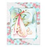 Chá de fraldas azul e cor-de-rosa da cerceta da ce