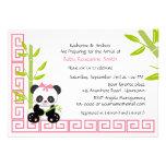 Chá de fraldas bonito da panda da menina convites personalizado