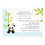 Chá de fraldas bonito da panda do menino convite