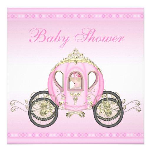 Chá de fraldas bonito da princesa Treinamento Convite Personalizados