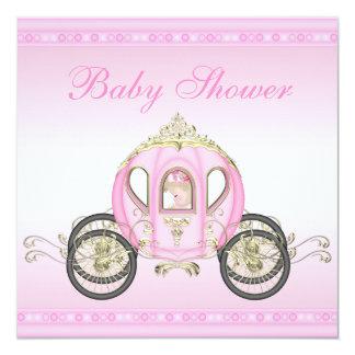 Chá de fraldas bonito da princesa Treinamento Convite Quadrado 13.35 X 13.35cm