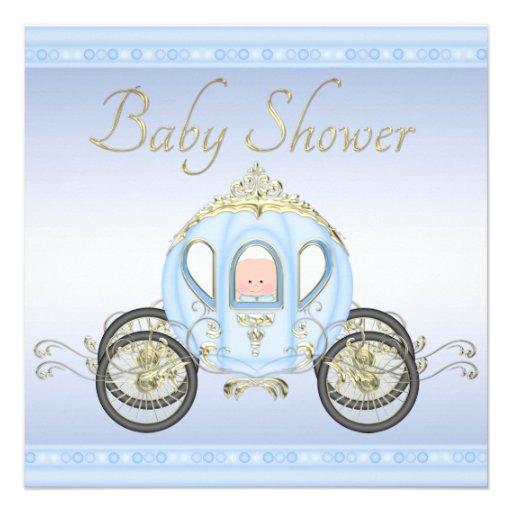 Chá de fraldas bonito do príncipe Treinamento Azul Convites Personalizado
