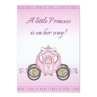 Chá de fraldas cor-de-rosa da princesa Treinamento Convite 12.7 X 17.78cm