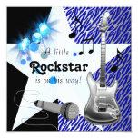 Chá de fraldas da estrela do rock dos azuis convites personalizados