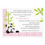 Chá de fraldas da panda das mamães e do bebé convites personalizados