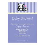 Chá de fraldas da panda - roxo convite personalizado