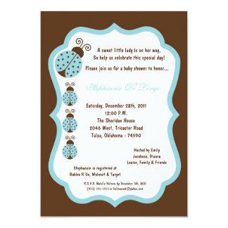 chá de fraldas da senhora Desinsetar de 5x7 Brown Convites Personalizado