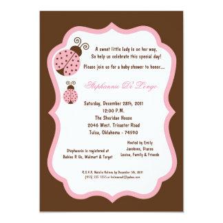 chá de fraldas da senhora Desinsetar de 5x7 Brown Convite 12.7 X 17.78cm