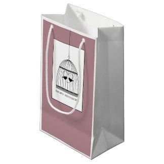 Chá de fraldas do Birdcage do coração do vintage Sacola Para Presentes Pequena