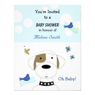 Chá de fraldas do cão dos desenhos animados convites
