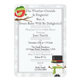 Chá de fraldas do inverno convite 12.7 x 17.78cm