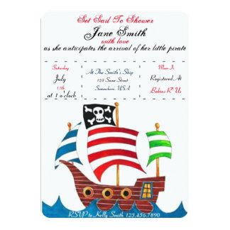 Chá de fraldas do pirata convite 12.7 x 17.78cm