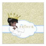 Chá de fraldas do príncipe Étnico Convite Quadrado 13.35 X 13.35cm