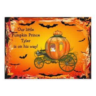 Chá de fraldas do príncipe o Dia das Bruxas Menino Convite 12.7 X 17.78cm