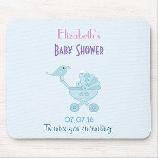 Chá de fraldas dos Bluebirds do bebê e das mamães Mouse Pad