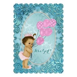 Chá de fraldas elegante do rosa e do azul da convites personalizado