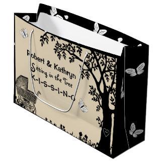 Chá de fraldas personalizado sacola para presentes grande