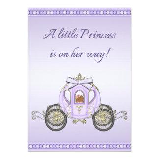 Chá de fraldas roxo étnico da princesa Treinamento Convite 12.7 X 17.78cm