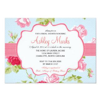 Chá de panela azul e cor-de-rosa Invitaiton do Convite 12.7 X 17.78cm