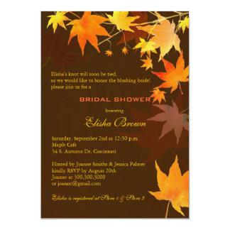 Chá de panela castanho chocolate do bordo da queda convite 12.7 x 17.78cm