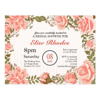 Chá de panela coral doce do jardim de rosas cartão postal
