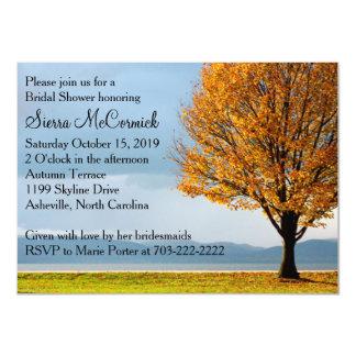 Chá de panela da árvore de bordo do outono da convite 11.30 x 15.87cm