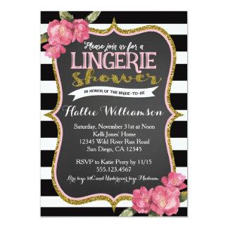 Chá de panela da lingerie convite 12.7 x 17.78cm