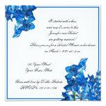 Chá de panela da orquídea azul convite personalizados