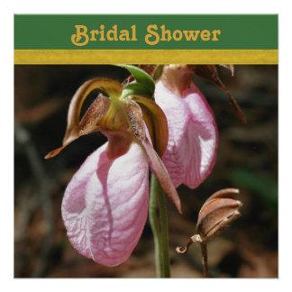 Chá de panela da orquídea de senhora deslizador convite