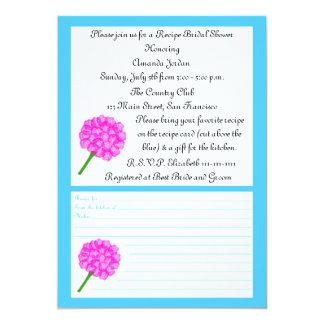 Chá de panela da receita - cartão azul da receita convite 12.7 x 17.78cm