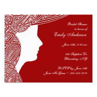 Chá de panela da senhora Vermelho Convites Personalizados