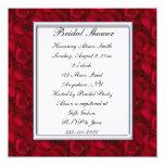 Chá de panela das pétalas de rosa vermelha convites personalizados