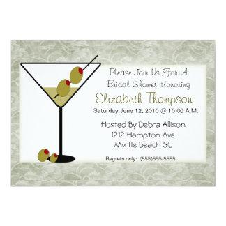 Chá de panela de Martini Convite 12.7 X 17.78cm
