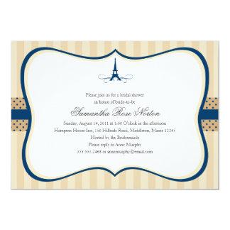 Chá de panela de Paris da torre Eiffel Convites Personalizados