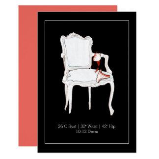 Chá de panela do cartão   Bachelorette da inserção