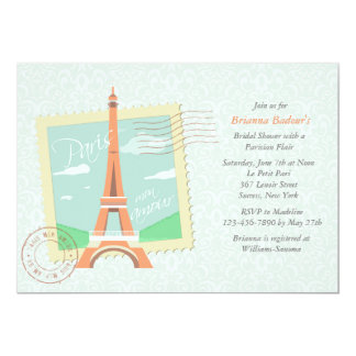 Chá de panela do caso amoroso de Paris Convite 12.7 X 17.78cm