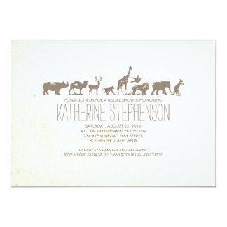 Chá de panela do safari do jardim zoológico convite 12.7 x 17.78cm