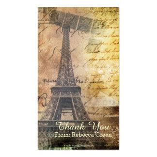 chá de panela do vintage da torre Eiffel de Paris Cartão De Visita