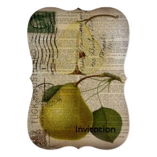 chá de panela do vintage do casamento vintage convite 12.7 x 17.78cm