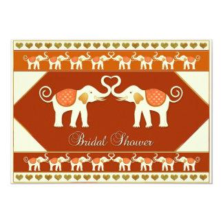 Chá de panela dos elefantes brancos convite 12.7 x 17.78cm