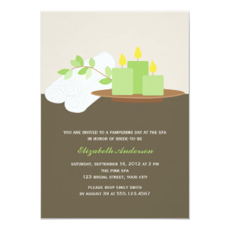 Chá de panela dos termas {verde} convite 12.7 x 17.78cm