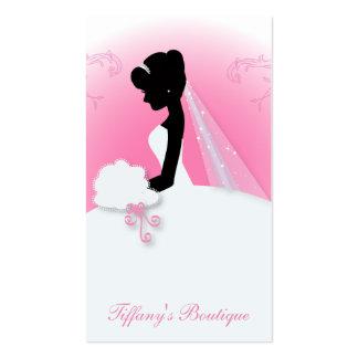 chá de panela elegante cor-de-rosa moderno da cartão de visita